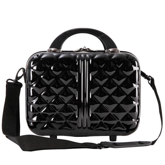 2b1709147d9c Dillards Bags | Nwt Triforce Hard Shell Beauty Case Travel Black ...